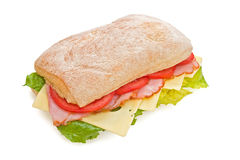 Prosciutto, pomodori & formaggio squisiti Fotografia Stock Libera da Diritti