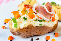 Prosciutto and potato Stock Images