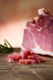 Prosciutto - raw ham. Italian prosciutto - italian raw ham Stock Photo