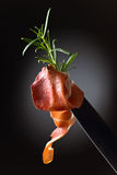 Prosciutto with  rosemary Royalty Free Stock Images