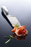 Prosciutto with  rosemary Stock Images