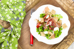 Prosciutto salad Stock Photography