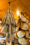 Prosciutto for sale in Bologna Stock Photography
