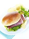 Prosciutto sandwich Stock Photography