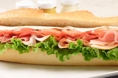 Prosciutto sandwich Royalty Free Stock Photography