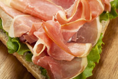 Prosciutto sandwich Royalty Free Stock Photo