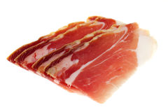 Prosciutto slices Stock Photos