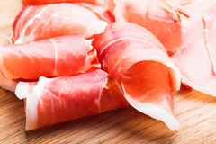 Prosciutto slices Royalty Free Stock Images