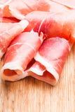 Prosciutto slices stock photos
