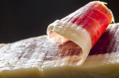Prosciutto spagnolo iberico, prosciutto di bellota fotografia stock libera da diritti
