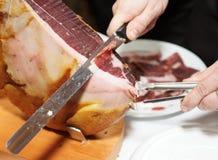 Prosciutto spagnolo - jamon fotografie stock