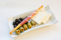 Prosciutto stick and feta Stock Image
