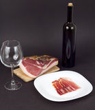 Prosciutto and wine Royalty Free Stock Image