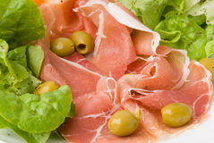 Prosciutto With Fresh Salad 4 Royalty Free Stock Photography