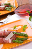 Prosciutto wrapped asparagus Royalty Free Stock Image