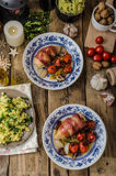 Prosciutto wrapped chicken Stock Images