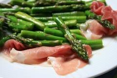 prosciutto zielony szparagów Zdjęcie Royalty Free