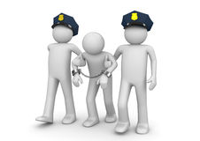 Proscrito arrestado - legal ilustración del vector