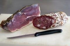 Proscuitto en salami Royalty-vrije Stock Fotografie
