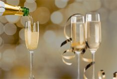 Prosecco. Bottle cava drink abstract alcohol anniversary stock photo