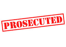 PROSECUTED Royalty Free Stock Photo