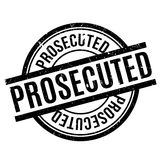 Prosecuted rubber stamp Royalty Free Stock Photography
