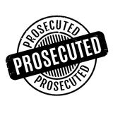 Prosecuted rubber stamp Stock Image