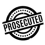 Prosecuted rubber stamp Stock Images