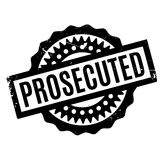 Prosecuted rubber stamp Royalty Free Stock Images