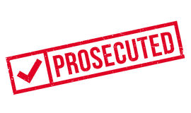Prosecuted rubber stamp Royalty Free Stock Photos