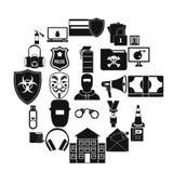 Prosecution icons set, simple style. Prosecution icons set. Simple set of 25 prosecution vector icons for web isolated on white background Stock Images