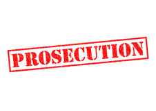 PROSECUTION. Red Rubber Stamp over a white background Stock Photo