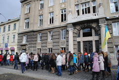 Prosecutor s Office in Lviv procession Stock Image