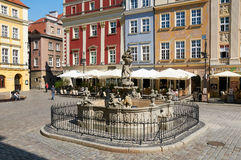 Proserpina's fountain, old Market Square. Poznan Royalty Free Stock Photos