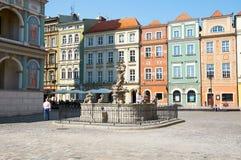 Proserpinas fontanna, stary Targowy kwadrat przy Stary Rynek poznan Zdjęcia Stock