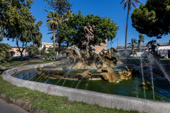Proserpine fountain in Catania, Sicily, Italy Royalty Free Stock Photo