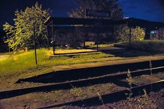 Prosetice, republika czech - Czerwiec 09, 2019: nighty mały dworzec zdjęcie royalty free