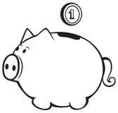 Prosiątko bank ilustracja wektor