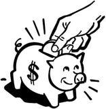 Prosiątko bank royalty ilustracja