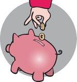 Prosiątko banka Save Obraz Stock