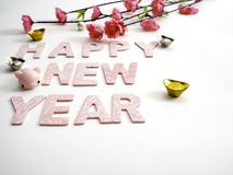 Prosiątko nowego roku Chiński 2019 tło fotografia stock