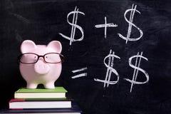 Prosiątko bank z blackboard Zdjęcia Stock