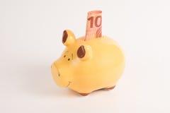 Prosiątko banka 10 euro Obrazy Stock