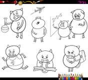 Prosiaczek kreskówki kolorystyki studencka strona Fotografia Stock