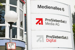ProSiebenSat.1 Media AG in Unterföhring Stock Image