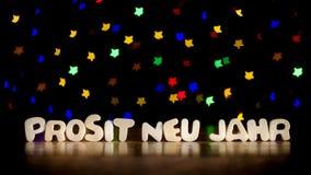 Prosit neu jahr, happy new year in German language Royalty Free Stock Image
