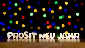 Prosit neu jahr, happy new year in German language Royalty Free Stock Images