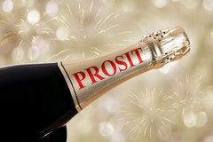 prosit written on bottle Royalty Free Stock Photos