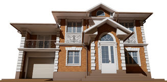 The prospect of the facade. Cottage in a classic style Royalty Free Stock Photo