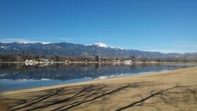 Prospect Lake Prettiness. Memorial Park & Prospect Lake Colorado Royalty Free Stock Photos